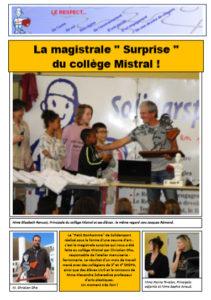 La magistral surprise du Collège Frédéric Mistral