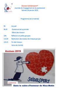 Planning des Assises janvier 2019