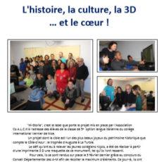 L'histoire, la culture, la 3D … et le cœur !
