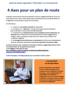 Read more about the article 4 axes pour un plan de route