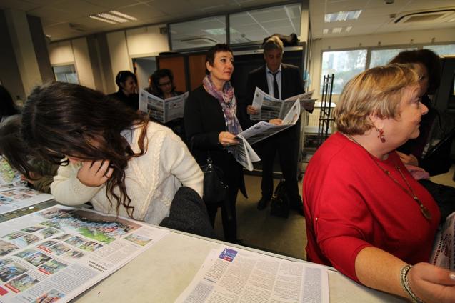 La délégation du lycée De Croisset de Grasse.