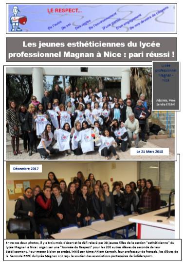 Les jeunes esthéticiennes du Lycée Magnan