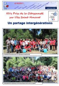 XIVeme Prix de la Citoyenneté : un partage intergénérationnel
